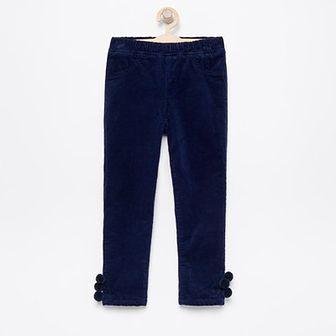 Reserved - Spodnie sztruksowe z ociepleniem - Granatowy