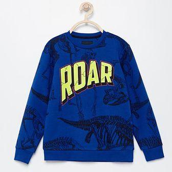 Reserved - Bluza w dinozaury - Niebieski