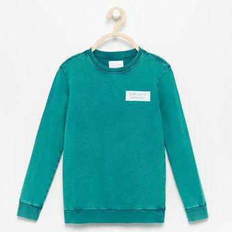 Reserved - Bluza z nadrukiem na plecach - Zielony