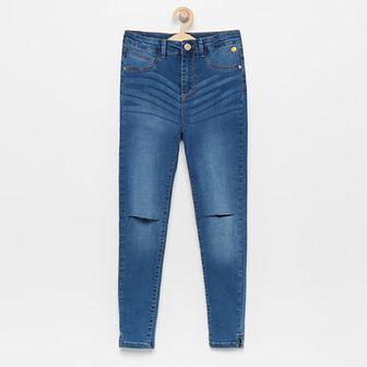 Reserved - Jeansy z wysokim stanem - Niebieski