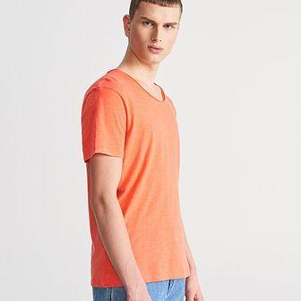 Reserved - Gładki T-shirt - Pomarańczo