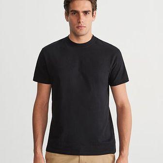 Reserved - Gładki T-shirt - Czarny