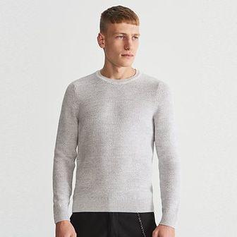 Reserved - Sweter - Jasny szar