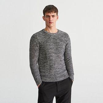 Reserved - Sweter z bawełny organicznej - Szary