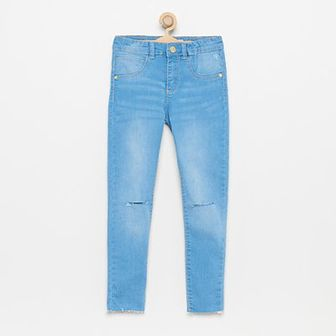 Reserved - Jeansy skinny fit z dziurami na kolanach - Niebieski