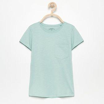Reserved - T-shirt z bawełny organicznej - Zielony