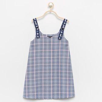 Reserved - Sukienka w kratkę - Granatowy