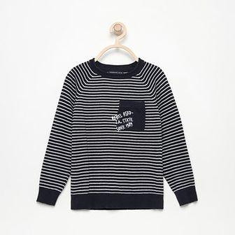 Reserved - Sweter w paski - Granatowy