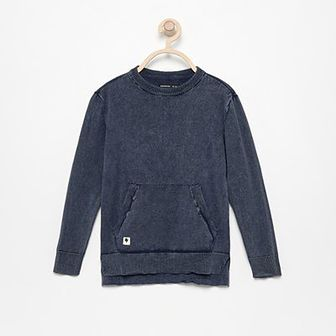 Reserved - Sweter z kieszenią kangurką - Granatowy