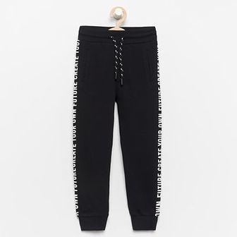 Reserved - Spodnie dresowe z bawełny organicznej - Czarny