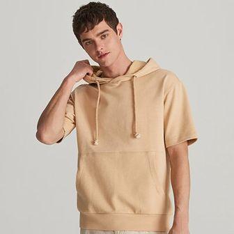 Reserved - Bluza z krótkim rękawem - Beżowy