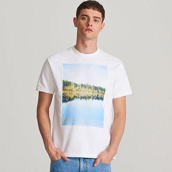 Reserved - T-shirt z naszywanymi grafikami - Biały