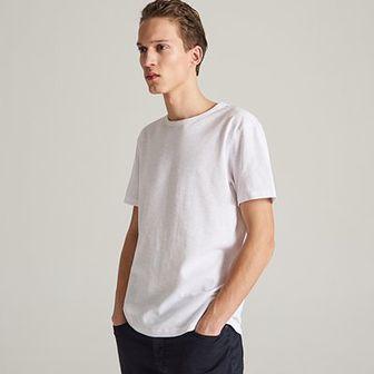 Reserved - T-shirt ze strukturalnej dzianiny - Biały
