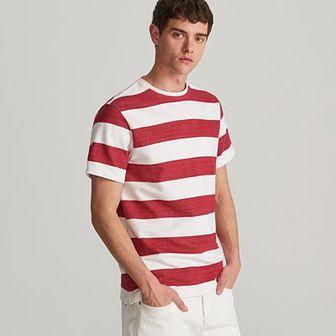 Reserved - T-shirt w paski - Czerwony