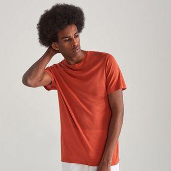 Reserved - Gładki T-shirt z modalu - Czerwony