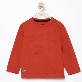 Reserved - Koszulka z wypukłym napisem - Czerwony
