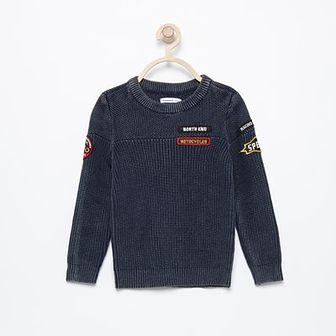 Reserved - Sweter z naszywkami - Szary