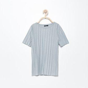 Reserved - Plisowana bluzka - Jasny szar