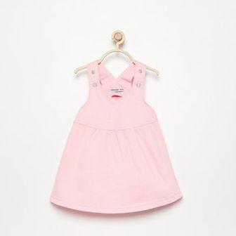 Reserved - Sukienka na szelkach - Różowy
