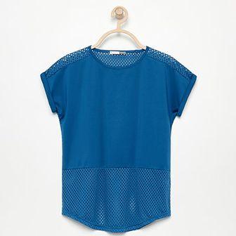 Reserved - Koszulka z ażurowymi plecami Be Active - Niebieski