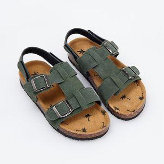 Reserved - Skórzane sandały zamieniane na klapki - Brązowy