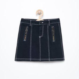 Reserved - Bawełniana mini spódniczka - Czarny
