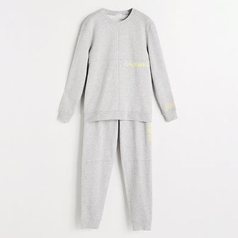 Reserved - Piżama dwuczęściowa - Jasny szar