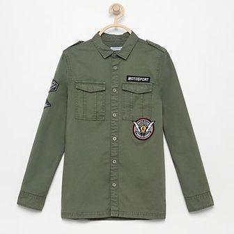 Reserved - Koszula z naszywkami - Khaki