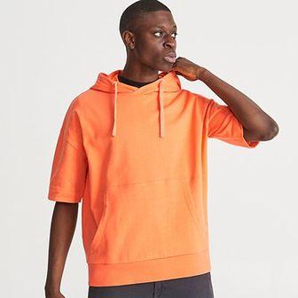 Reserved - Bluza z krótkim rekawem - Pomarańczo