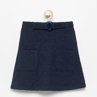 Reserved - Dzianinowa spódnica - Granatowy