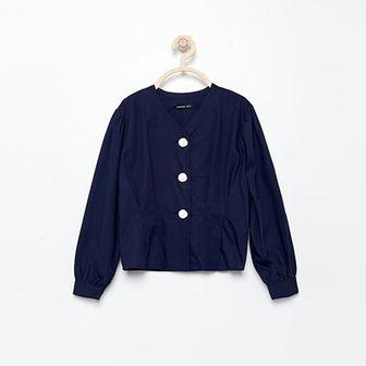 Reserved - Bluzka koszulowa - Granatowy