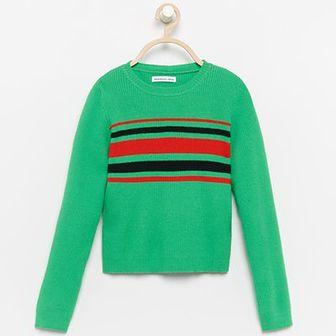 Reserved - Sweter w pasy - Khaki