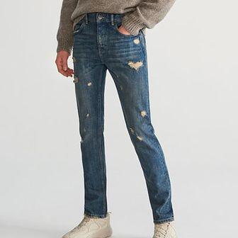 Reserved - Jeansy z przetarciami - Niebieski