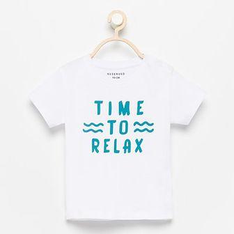 Reserved - T-shirt z napisem - Biały