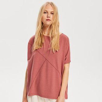 Reserved - Bluzka z dekoltem na plecach - Różowy