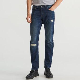 Reserved - Przecierane jeansy - Granatowy