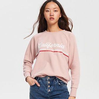 Reserved - Bluza z nadrukiem - Różowy