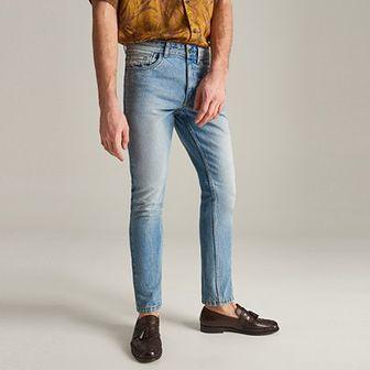 Reserved - Jeansy slim z bawełny organicznej - Niebieski