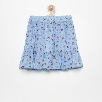 Reserved - Spódniczka w kwiatki - Niebieski