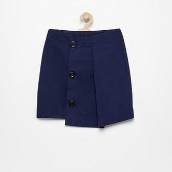 Reserved - Spódnica z asymetrycznym przodem - Granatowy