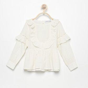 Reserved - Bluzka z błyszczącym włóknem - Biały