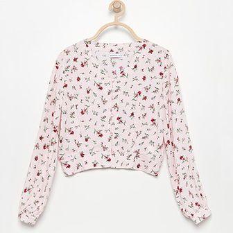 Reserved - Koszula w kwiatki - Różowy