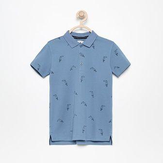 Reserved - Koszulka polo z nadrukiem - Niebieski