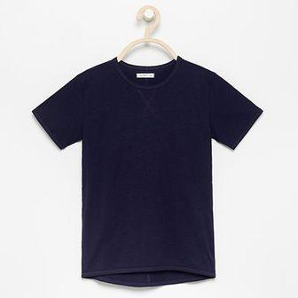 Reserved - Bazowy t-shirt - Granatowy