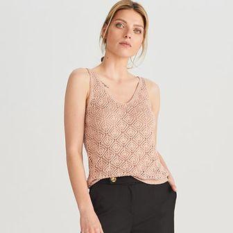 Reserved - Dzianinowa bluzka - Różowy