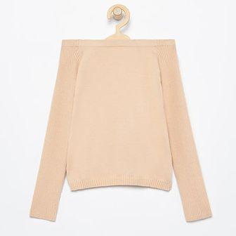 Reserved - Sweter z odsłoniętymi ramionami - Beżowy