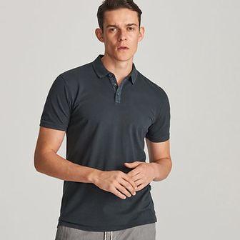 Reserved - Koszulka polo regular fit - Szary