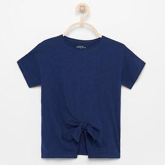 Reserved - T-shirt z bawełny organicznej - Granatowy