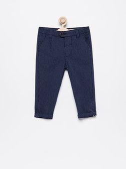 Reserved - Spodnie chino w paski - Granatowy