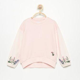 Reserved - Bluza z haftem - Różowy